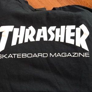 Black men's Thrasher t shirt short sleeves